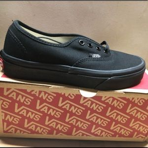 Authentic all black Vans
